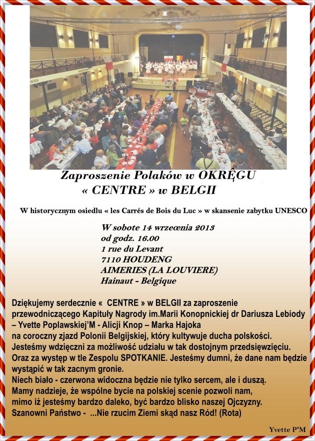 Zaproszenie Centre 14.09.2013
